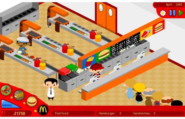 mcdonald flash game in www.mycoolmate.com